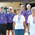 Men's 3.0 Medalist - Gold- Ted Wierman & Mark Wong (Pair on Left) - Silver (white shirts in front) Bill Harvey & Rich Ferris, Bronze - Peter Bratz and Lutz Pape (L to R)undefined