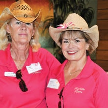 At left: Ranchette Putters co-presidents Linda Bowman and Janice Neal. undefined