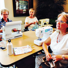 Jean Sticha, Carol Andrews and Jean Elaine Parfet undefined