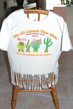 The beaded Walkathon T-shirt. undefined