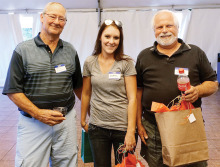 The chili winners from left are Rick Snowdon third,Andrea Marchus accepting second place for Josh Hermann and Jim Reichard first undefined