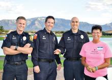 Golder Ranch Firemen with organizer, Bev Hanson undefined