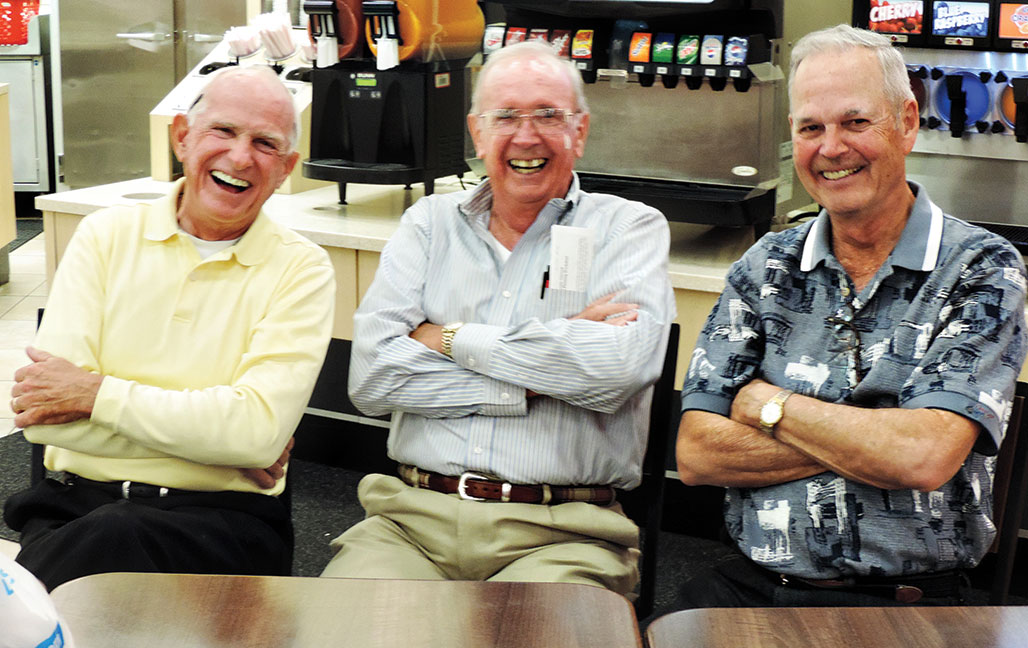 Volunteers Larry Clark, Bill Summers and Bud Stott. undefined