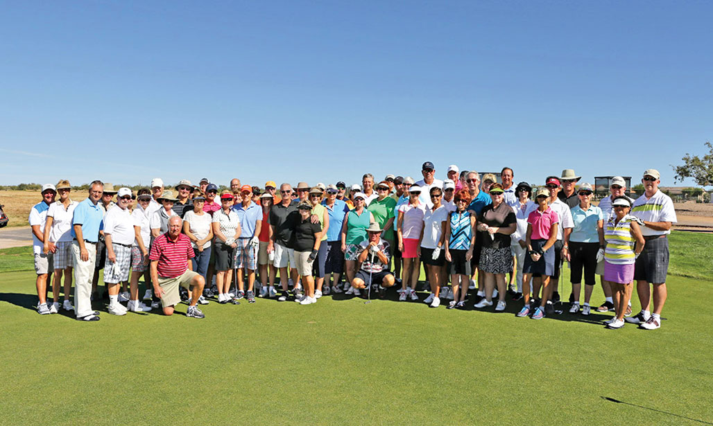 Participants in the Men's Golf Association fifth annual SaddleBrooke Ranch Fall Couples' golf event. undefined