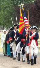 Sons of American Revolution presenting of the colors undefined
