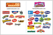 Products that participate in the box tops/labels program undefined
