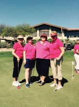 The SBR Ranchette Putters officers from left to right: Linda Nicholson, Jeannie Bianchini, Mary Schlachter and Camille Hovmiller