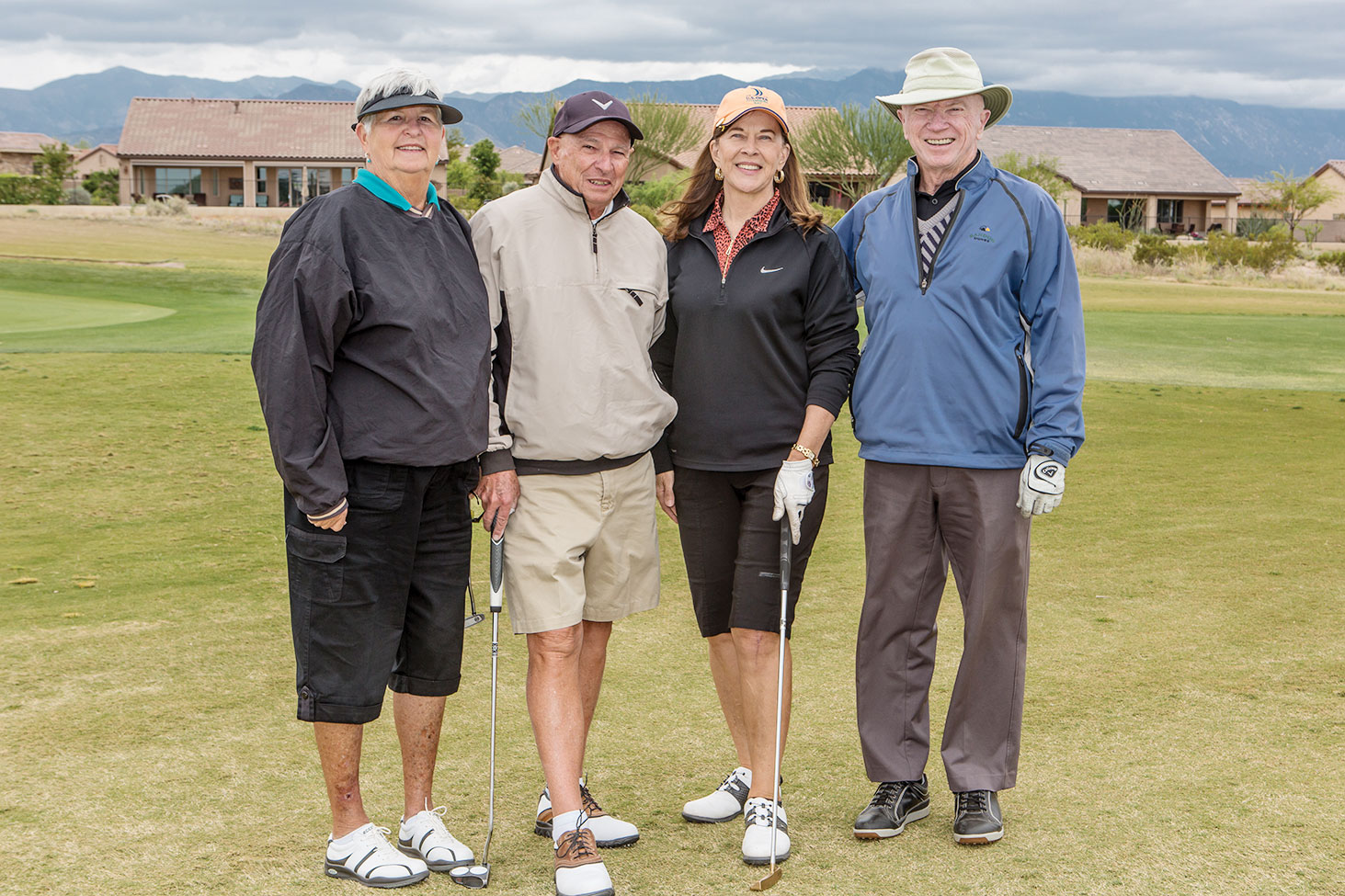 Third place from left are Joyce DeYoung, John DeYoung, Brenda Armenia and Greg Byrne