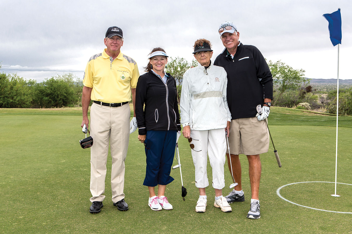 Second place from left are Richard Osterlund, Jeanne Osterlund, June Nichols and Dave Bott