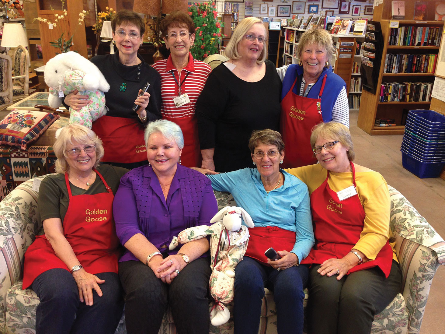 Left to right, standing: Joan Cohen, Diane Pettit, Ginny Berkey and Eithne Cook; seated: Annie Maud, Connie Campbell, Bev Harpold and Nancy Krauss. Not pictured: Charlotte James, Libby Cohen, Judy Jenkins, Laura Ingold, Beth Mullens, Marie Tayburn and Gayl VanNatter