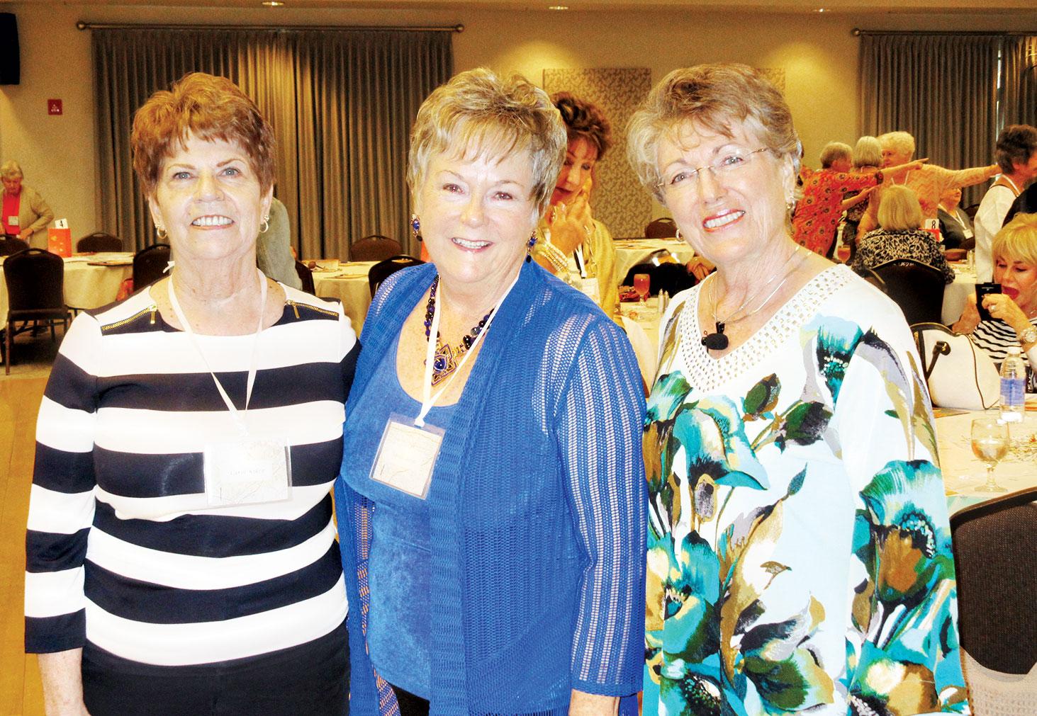 From left: Carol Kiker, Retreat Co-Chair, Sande Rivas, Women's Ministry Chair and Diana Walker, Retreat Speaker