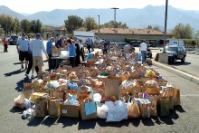 The food collected at SaddleBrooke