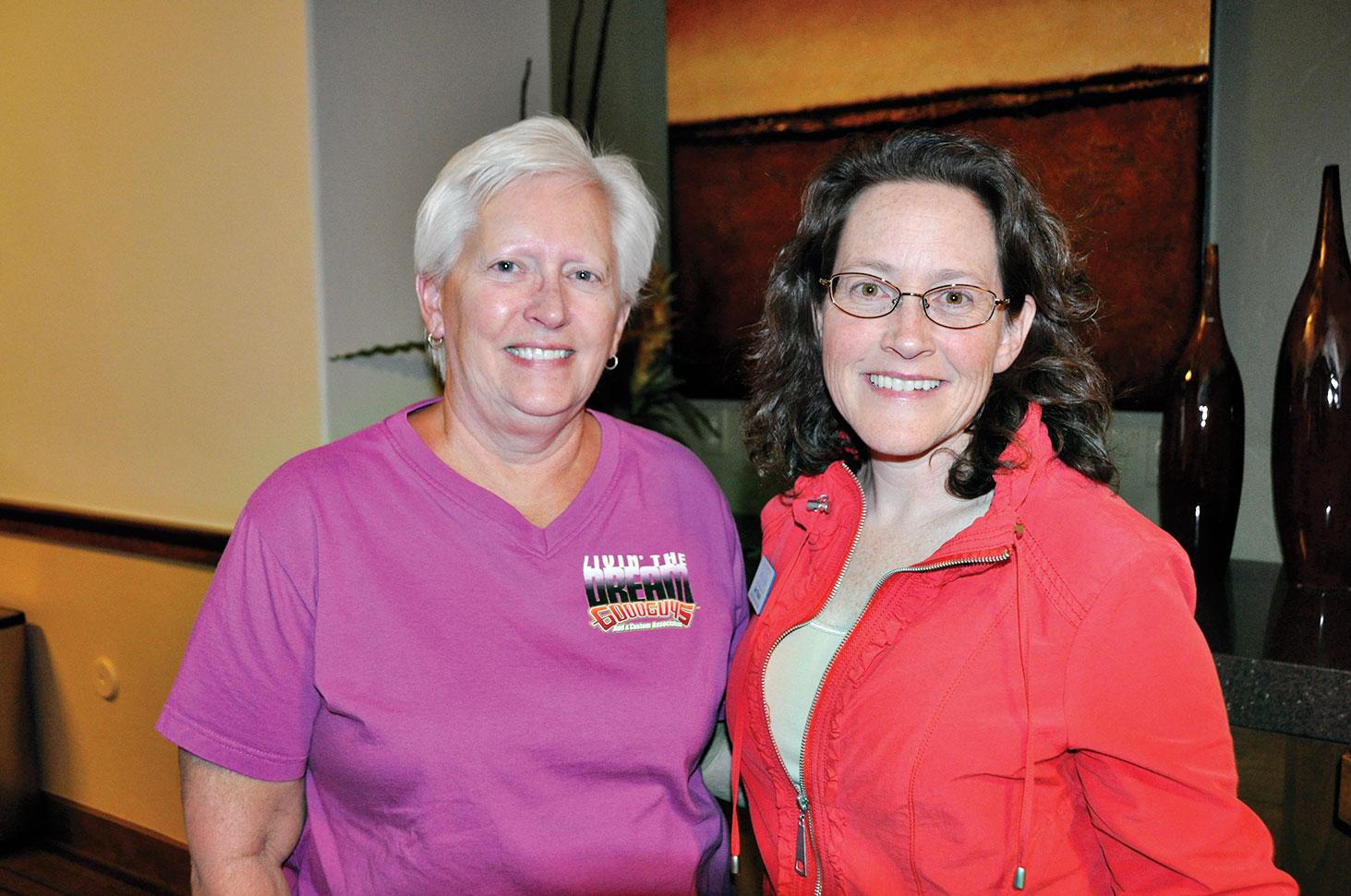 WNPA drawing winner Connie Calderon and Amy Reichgott