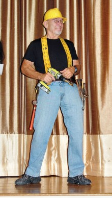Ron, the handyman, is ready to repair anything on his tour of the town.