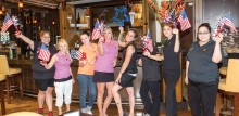 The Bistro Staff who helped put on the Memorial Day Celebration