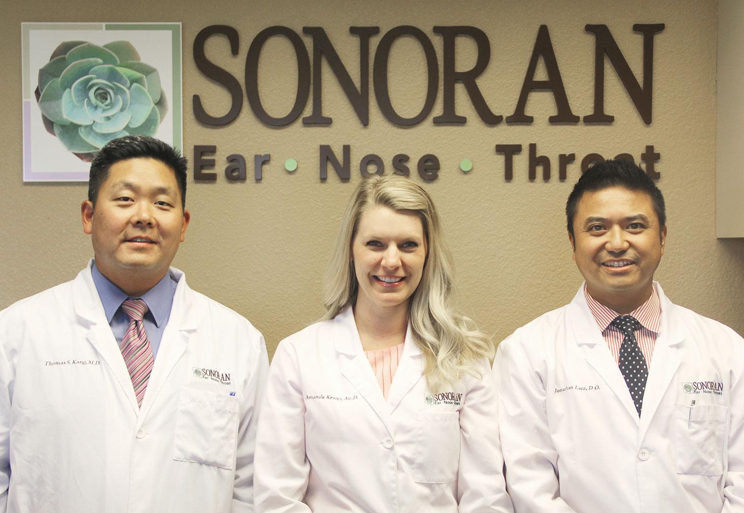 Left to right: Drs. Thomas Kang, Amanda Kester and Jonathan Lara