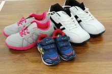 Shoes from smallest to largest sizes