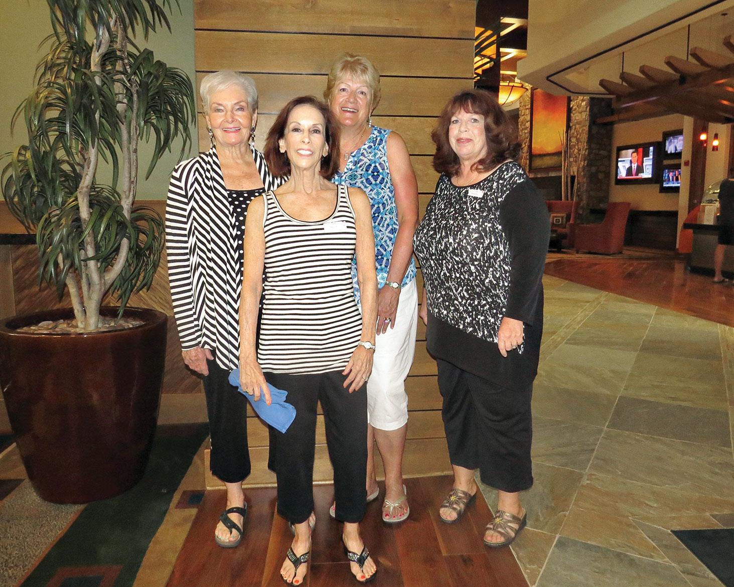 Back row: Pat Hartgrove, Carolyn Blake, Karen Rasmussen; front row: Beth Berzon