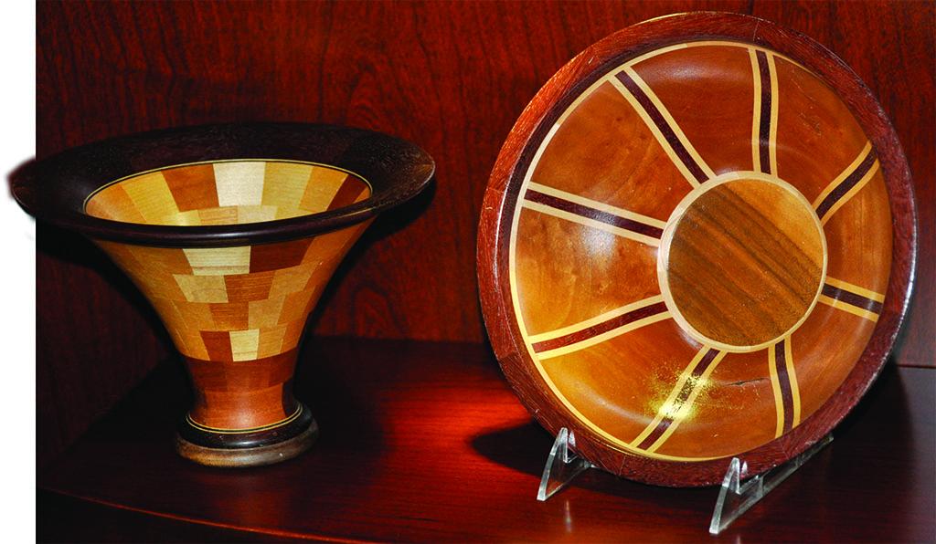 Wood turned bowls by Larry Strugala