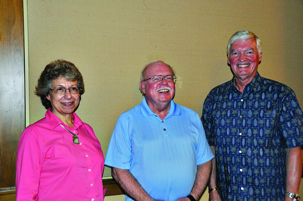 Jeff Johnson, Mike Neal and Gloria Quigg are members of the SBR Ranch genealogy club.