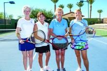 Sheila Bray, Janice Neal, Linda Bowman, Tove Pape