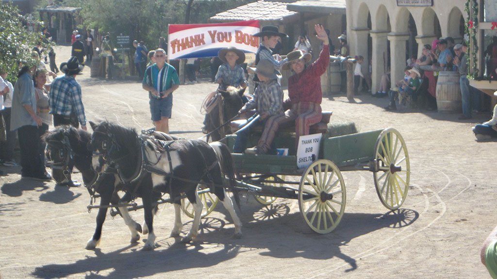 Parade honoring Bob Shelton, a founding entrepreneur of Old Tucson Studios