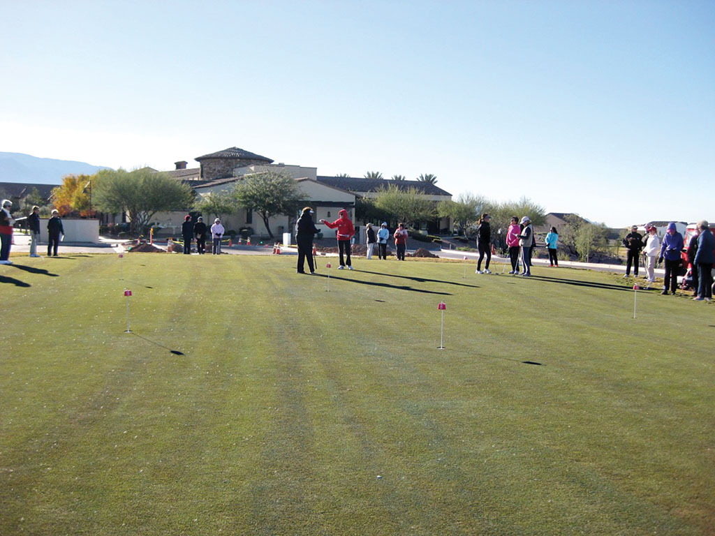 The putting green grand opening; photo by Janice Neal