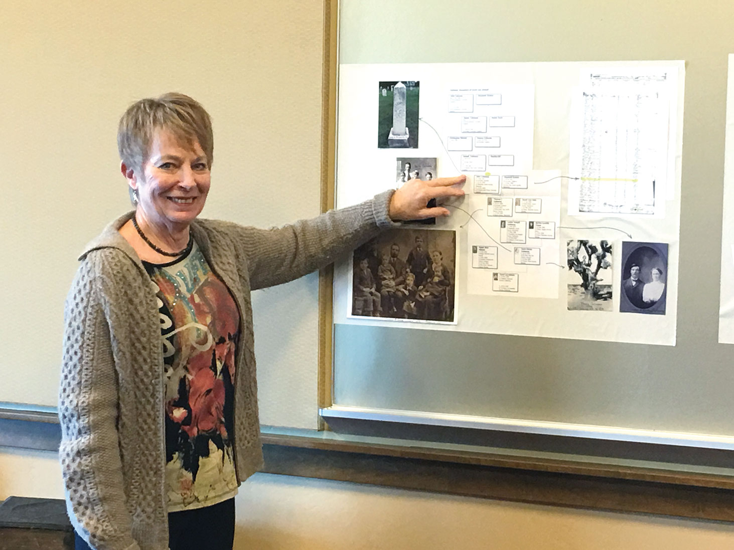 Carol Andrews shares a pedigree chart and photos from a line of her family tree.