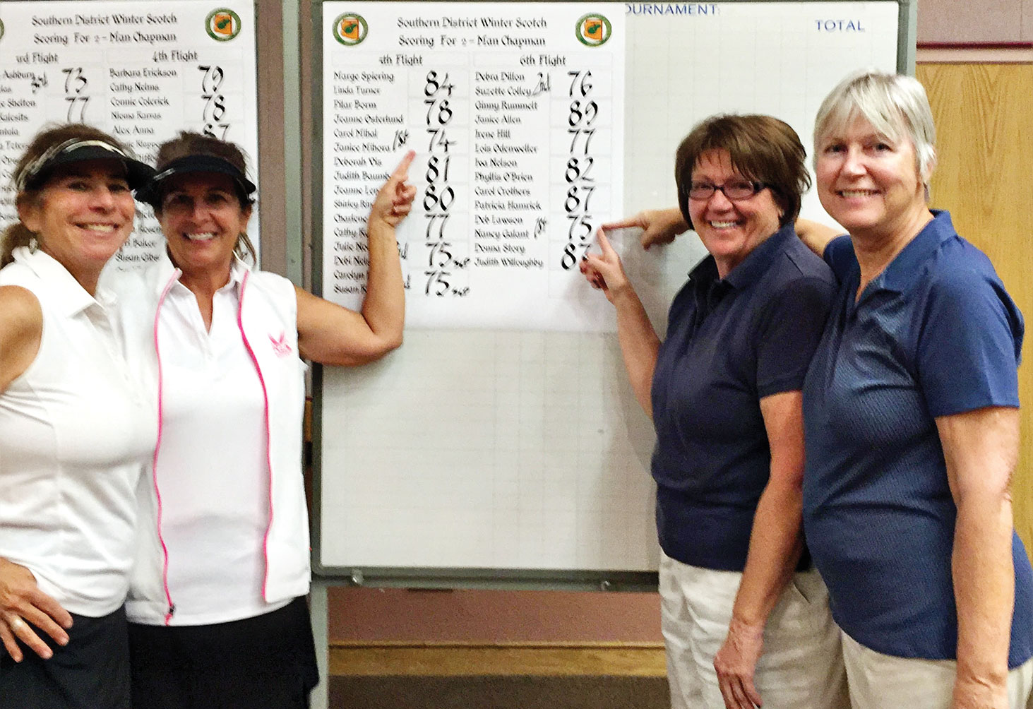 Left to right: Carol Mihal, Janice Mihora, Nancy Galant and Deb Lawson