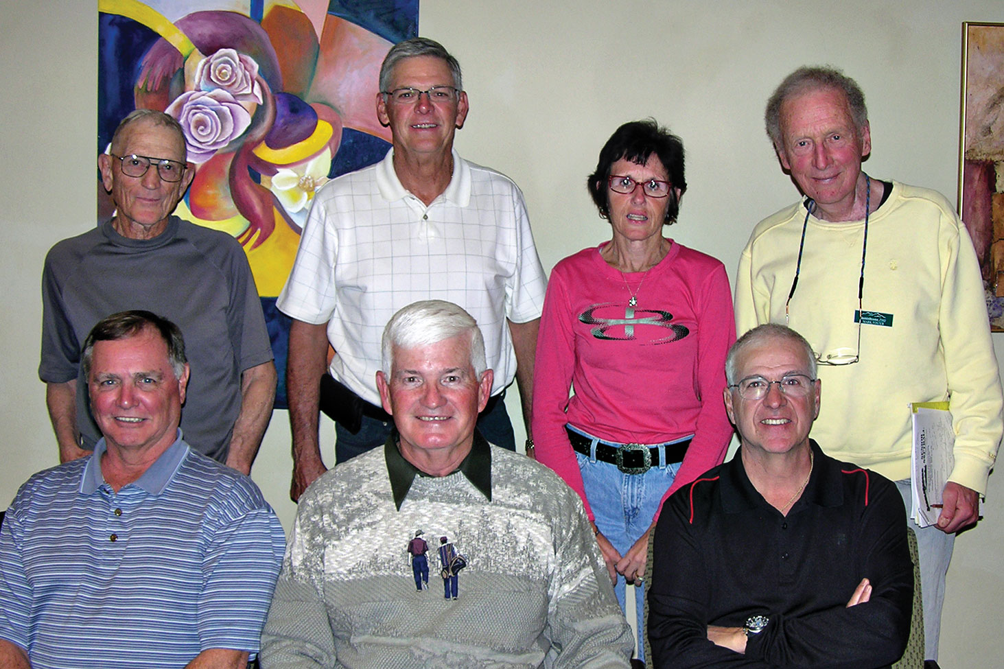 2016 SSSA Board, back row: Jack Graef, Steve Garceau, Debbie Seguin and Mark Foster; front row: Ken Crossman, Stu Kraft and Charlie LaNeve. Photo by Pat Tiefenbach