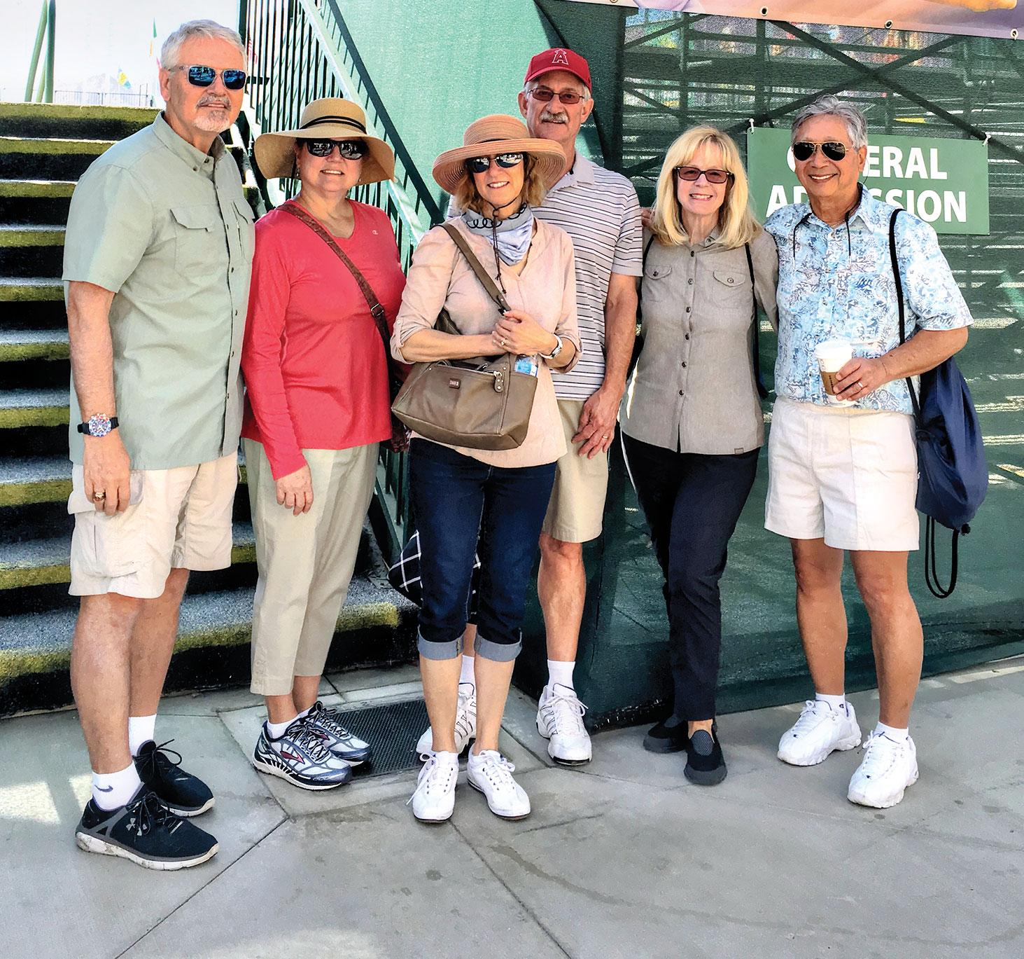 SBRTA members: Wes and Georgine Hurst, Janette and Mark Martin, and Arlene and Mark Wong; photo taken by Arlene Wong