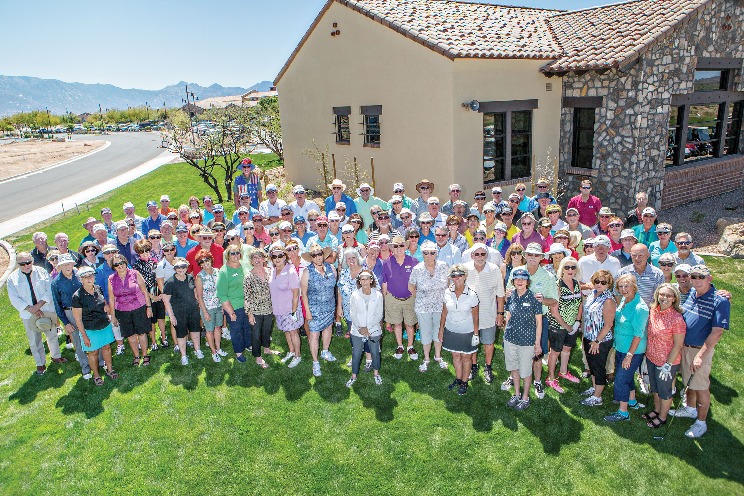 Participants in the Community Golf Event