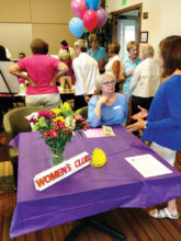 Margaret Yonkovich with the Women's Club