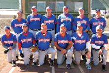 The 2016 Winter Season Tuesday Competitive League Champion, DS Builders & Remodeling. Back row: Gus Marano, Joe Oczak, Steve Garceau, Bob Chiarello, Doug Sweetland and Charlie LaNeve; front row: Don Jones, Jeff Stolze, Sidney Wilson, Leonard Gann, Chuck Kill and Larry Weber. Photo by Pat Tiefenbach