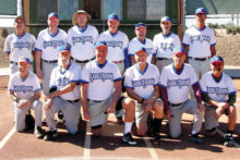 The 2016 Winter Season Monday Community League Champion, Crystal Tech Vivopools. Back row: Harold Weinenger, Mike Hood, Darrell Sabers, Jim Dunlap, Jeff Chikusa, Allan Kravitz and Howie Emmons; front row: Jake Jacobson, Steve Sahl, Jim Takacs, Paul Butler, Stan Schneiderman and Tom Klein. Photo by Pat Tiefenbach