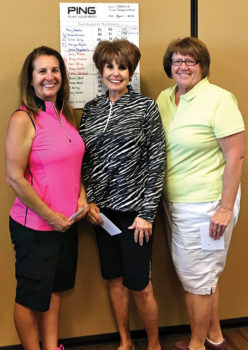 Second flight: Janice Mihora, Mindy Hawkins, Nancy Galant