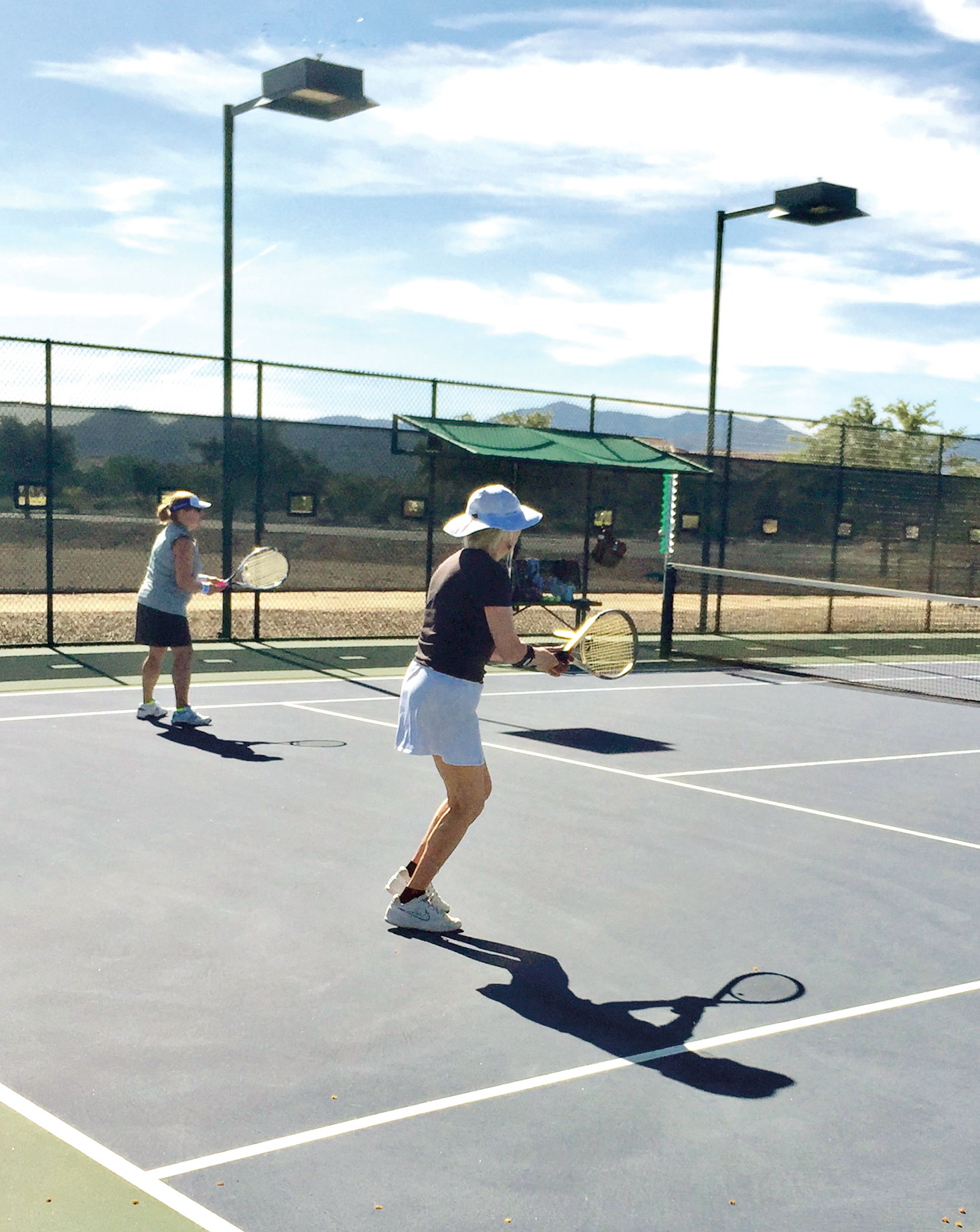 SBRTA members playing at the Women's Intra-league