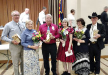 Left to right: Don Williams, Rebecca Williams, Randy Regnier, Sue Regnier, Bonnie Kraber and Larry Kraber