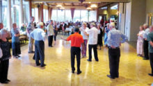 Salsa lesson at Hot August Nights, SB1 2015