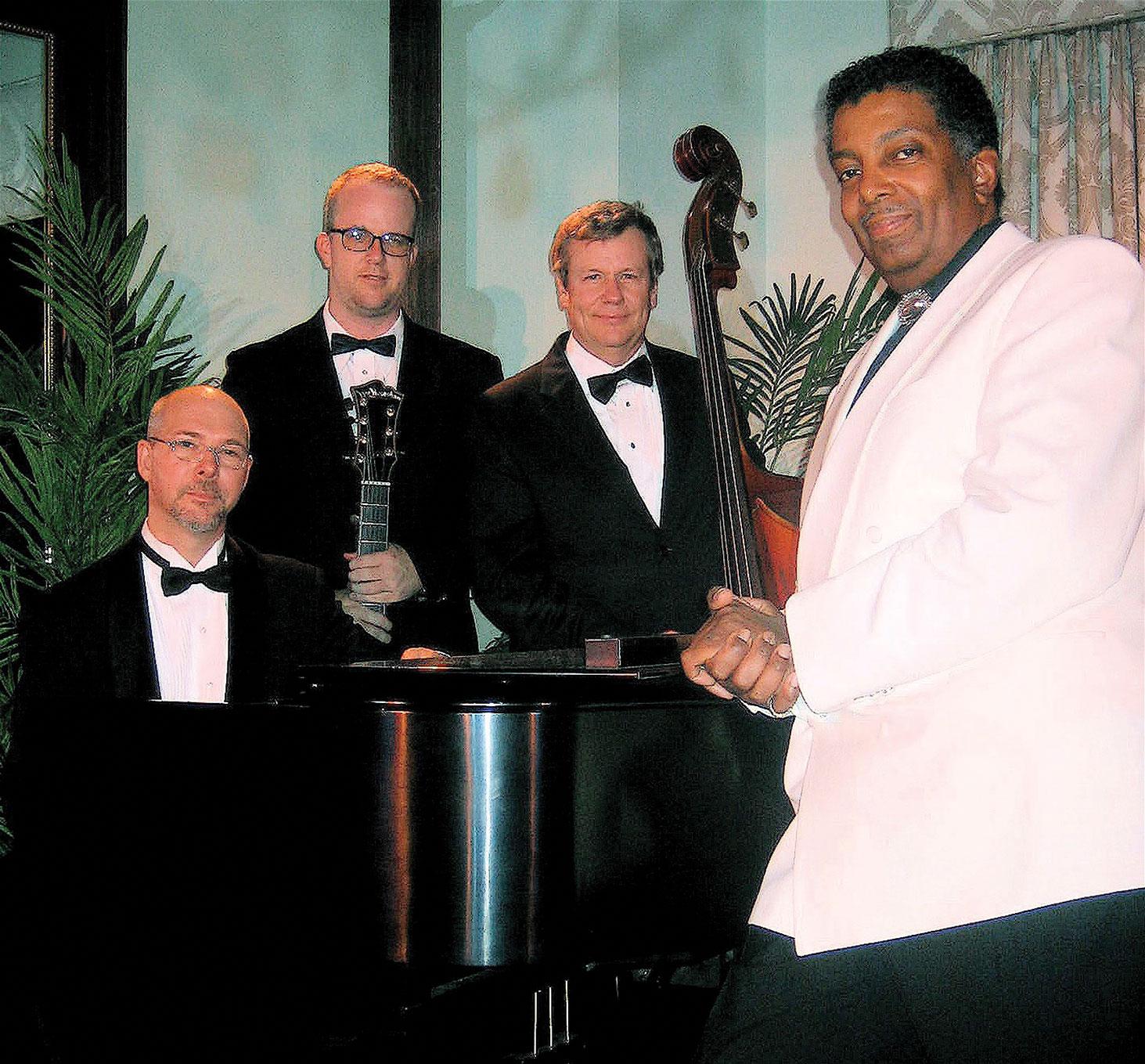 Joe Bourne and the trio that will accompany him.