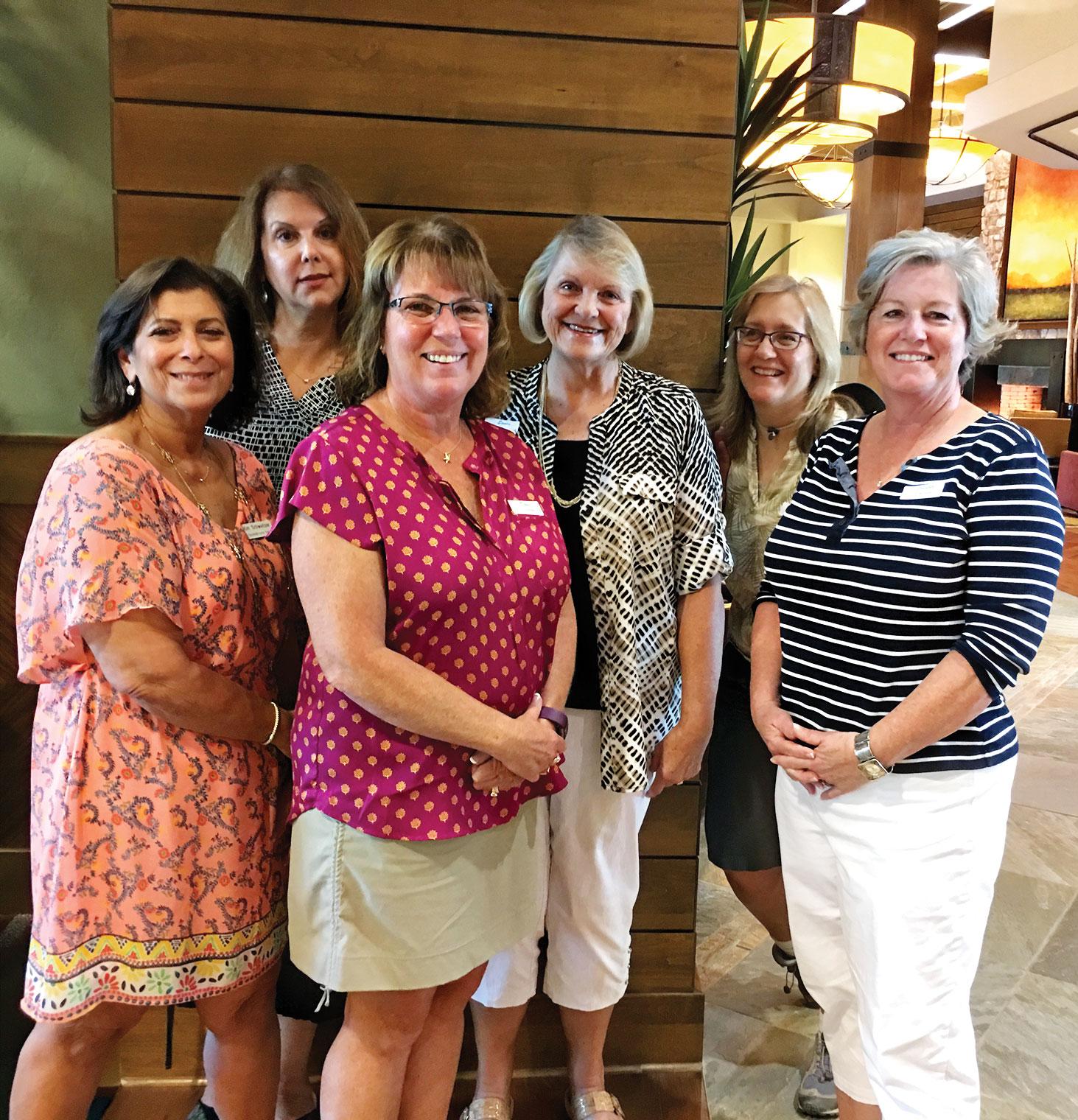 New SBR Women's Club members, left to right: Kim Schweitzer, Charlotte Eckmeyer, Sandy Schlage, Debbie Chapman, Helen Schleckser and Donna Pedota