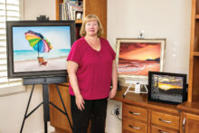 A display of artwork by a SaddleBrooke Ranch artist