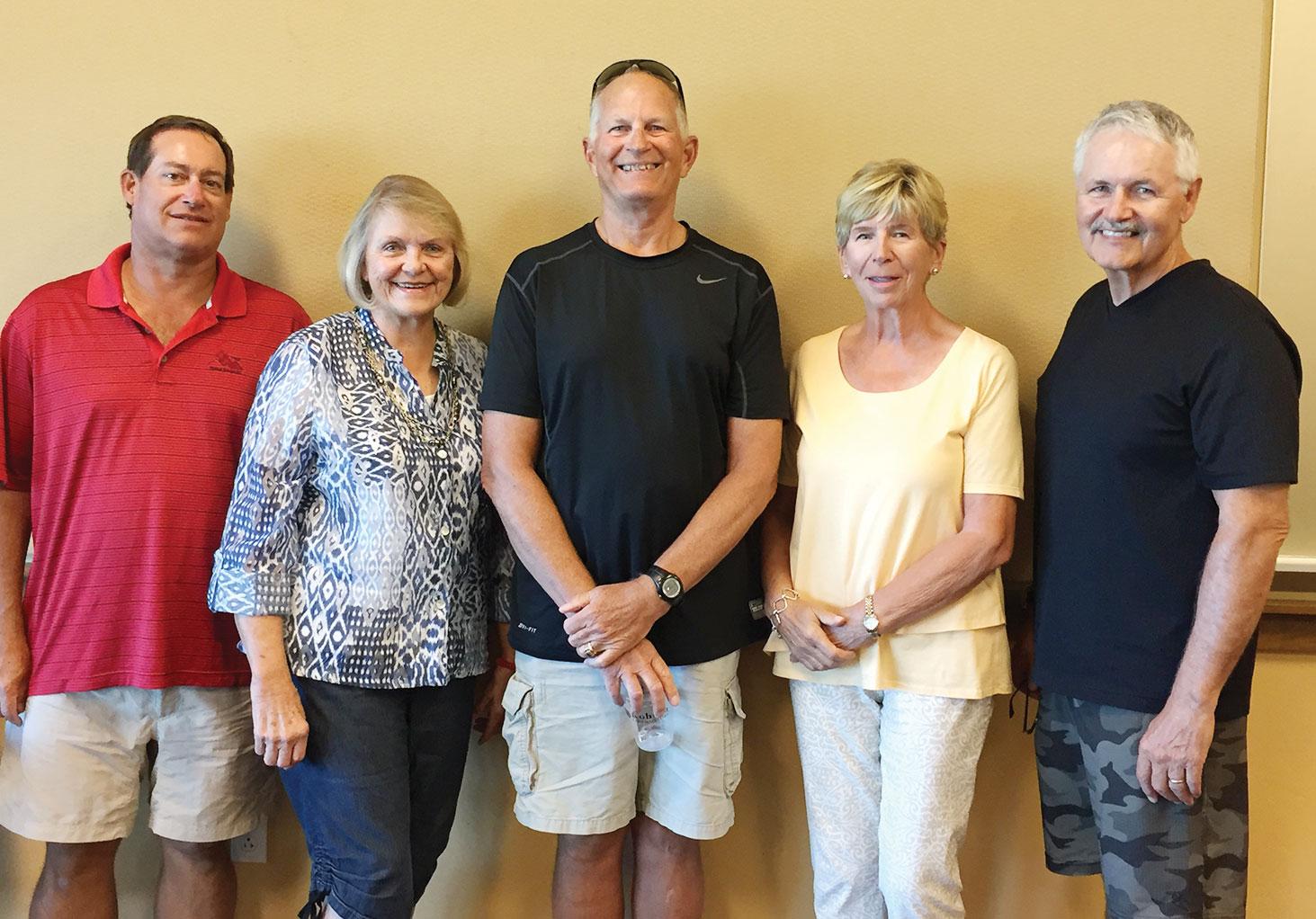 SBRTA 2017 Officers, left to right: Elmer Klavetter, Treasurer; Sandy Schlager, Secretary; Steve Ordahl, President; Beana Ordahl, Membership Chairperson; and Wes Hurst, Vice President