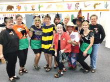 Special Halloween volunteers