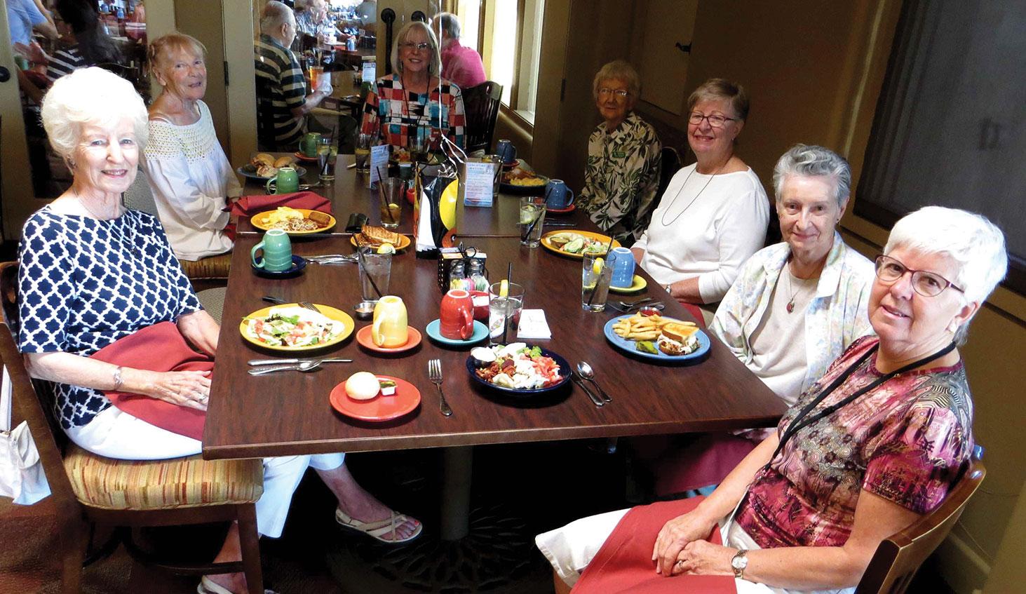 These happy Senior Village members enjoyed celebrating their birthdays together.