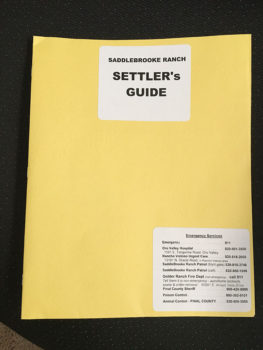 The SaddleBrooke Ranch Settler's Guide