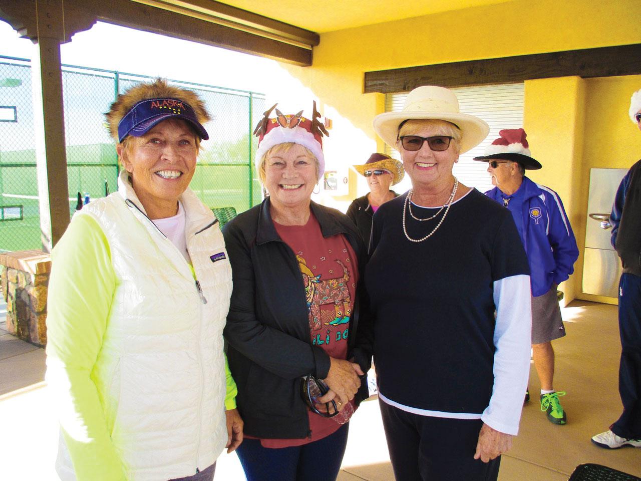 Anita Johnson, Toni McDole and Priscilla Wolf