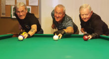 "Left to right: Joe ""Fast Eddie"" Giammarino, Jim Donat and John ""Hole in One"" McKinney"