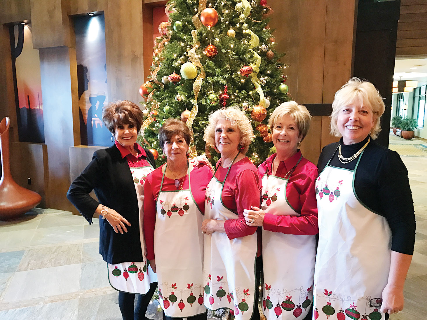 Left to right: Mindy Hawkins, Mary Spyros, Judy Andrasic, Colleen Carey and Ardie Rossi
