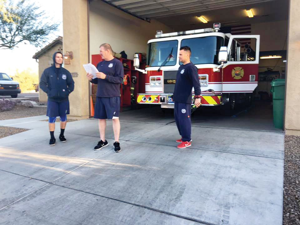 Our firehouse joining in